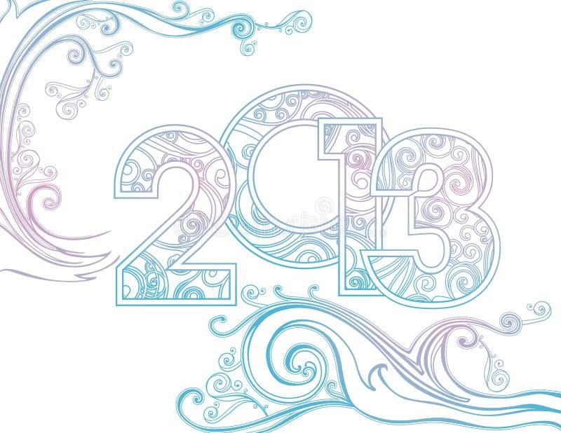 An neuf 2013 illustration de vecteur