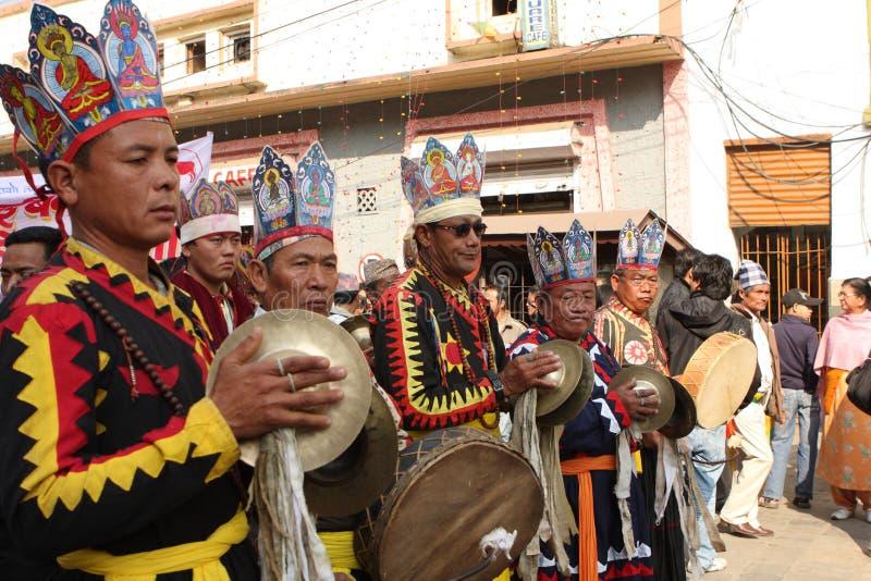 An neuf au Népal image libre de droits
