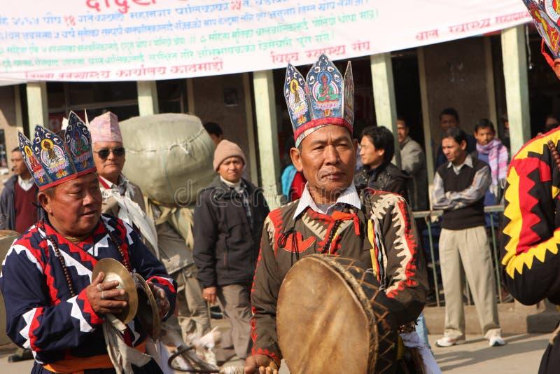 An neuf au Népal photographie stock