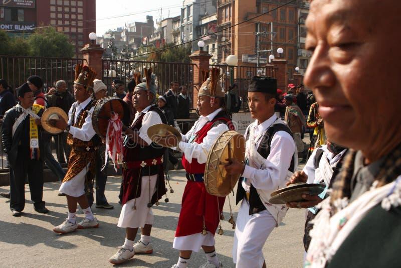 An neuf au Népal photos stock