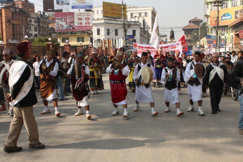 An neuf au Népal photographie stock libre de droits