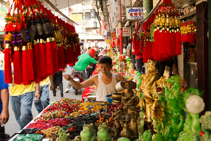 An neuf chinois dans Chinatown, Manille, Philippines images stock