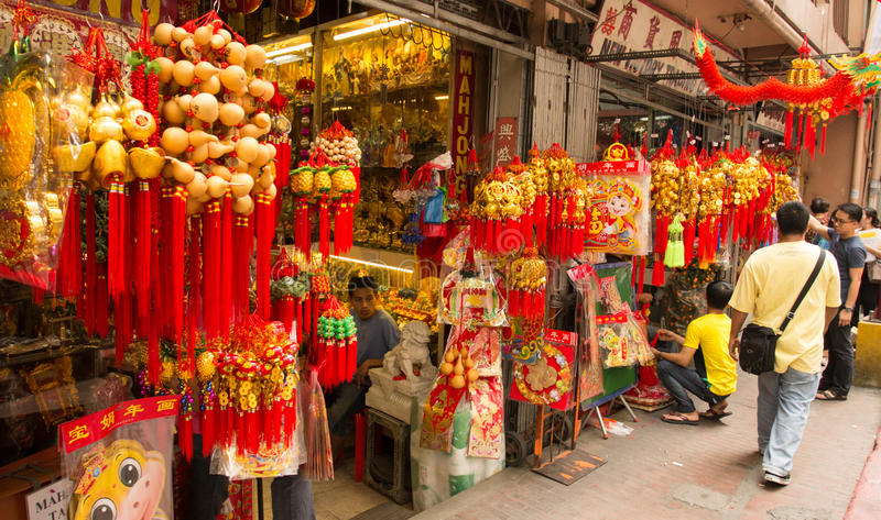 An neuf chinois dans Chinatown, Manille, Philippines photographie stock libre de droits