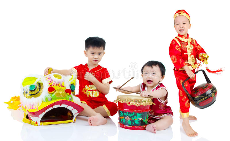 An neuf chinois heureux photos libres de droits