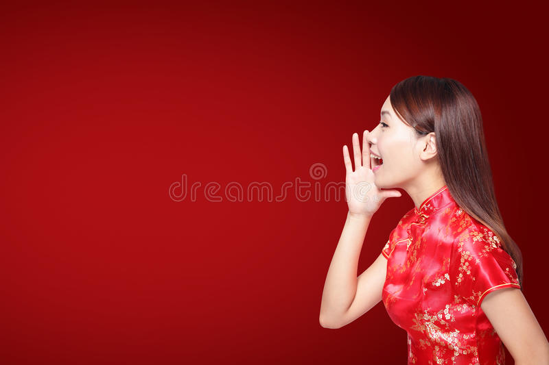 An neuf chinois heureux photo stock