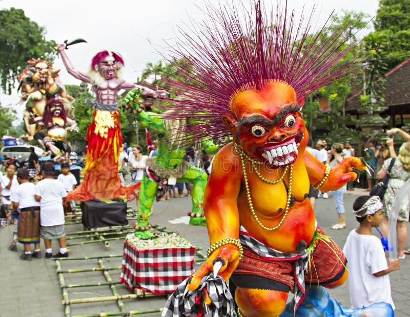 An neuf de Balinese photos libres de droits