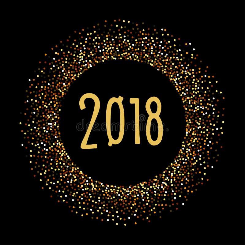 2018 an neuf de Noël de drapeau illustration libre de droits