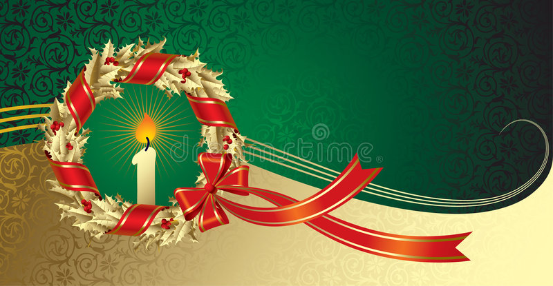 an neuf de salutation de Noël s de carte illustration stock