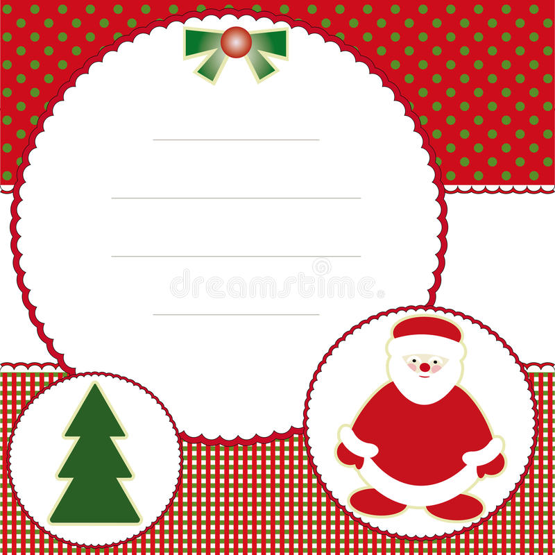 An neuf et carte de Noël photos stock