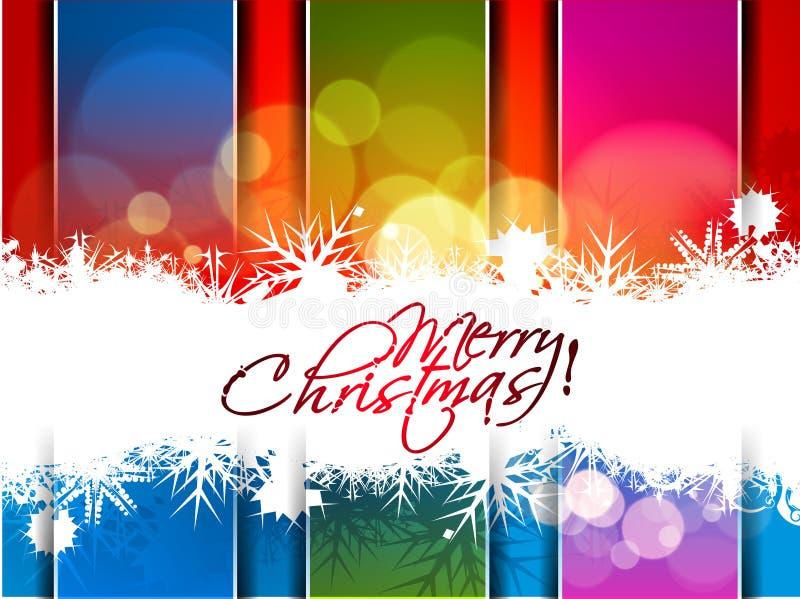 An neuf et conception colorée de Noël illustration stock