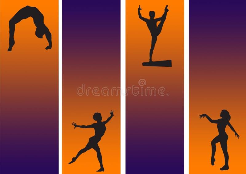 Neuf gymnastique illustration stock