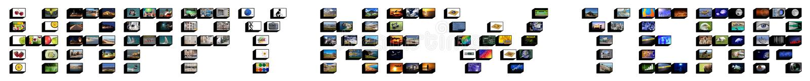 An neuf heureux images stock