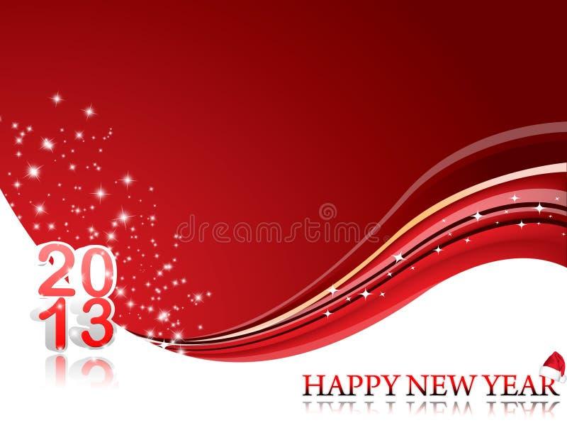 An neuf heureux 2013 illustration stock
