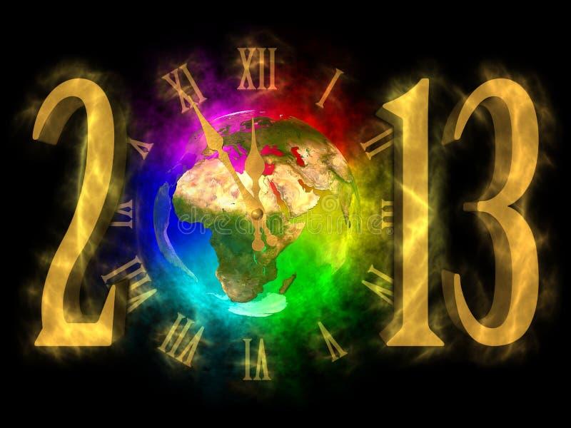 An neuf heureux 2013 - l'Europe, Afrique, Asie illustration de vecteur