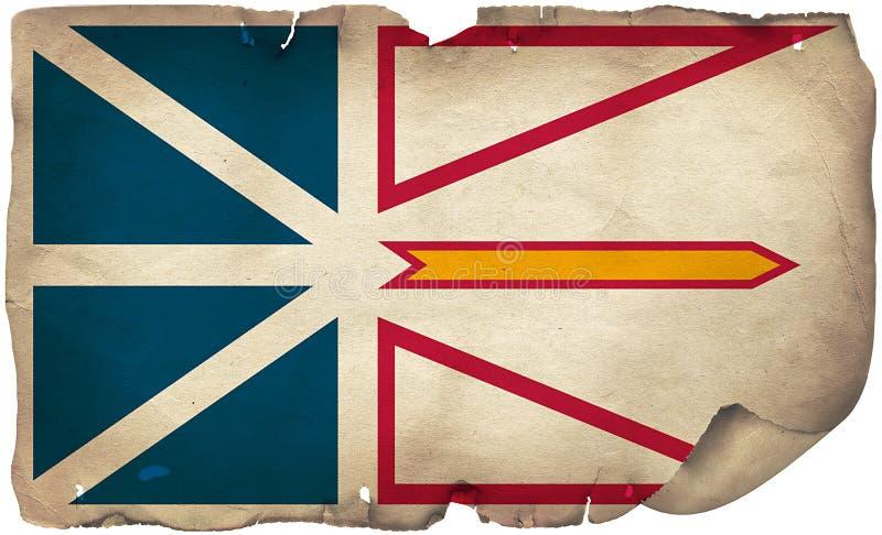 Neufundland- und Labrador-Flag auf altem Papier stockfoto