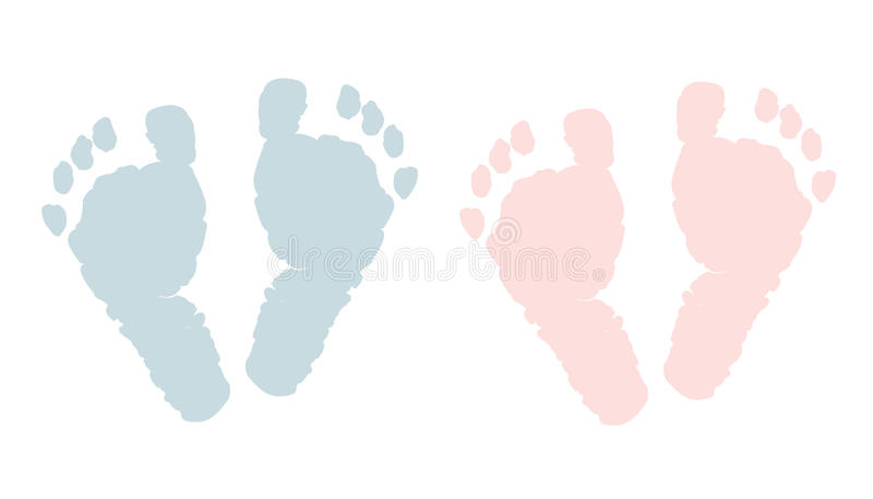 Neugeborene Abdrücke Baby und Junge bezahlt vektor abbildung