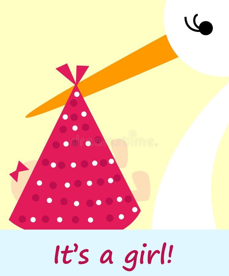 neugeborene Karte für Jungen stock abbildung
