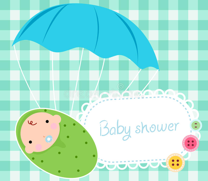 neugeborene Karte für Jungen vektor abbildung