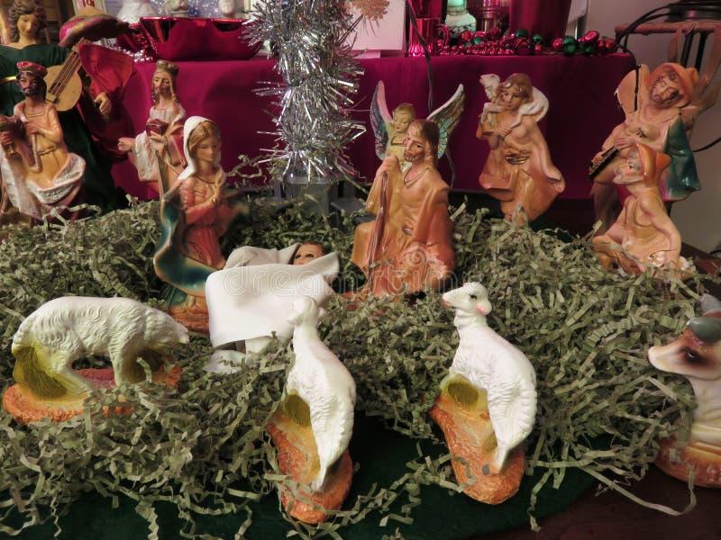 Neugeborener Jesus Christ During Christmas stockfotografie