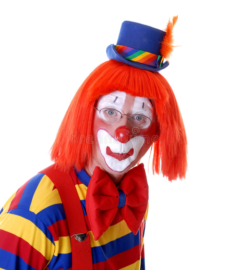Neugieriger Clown stockbild