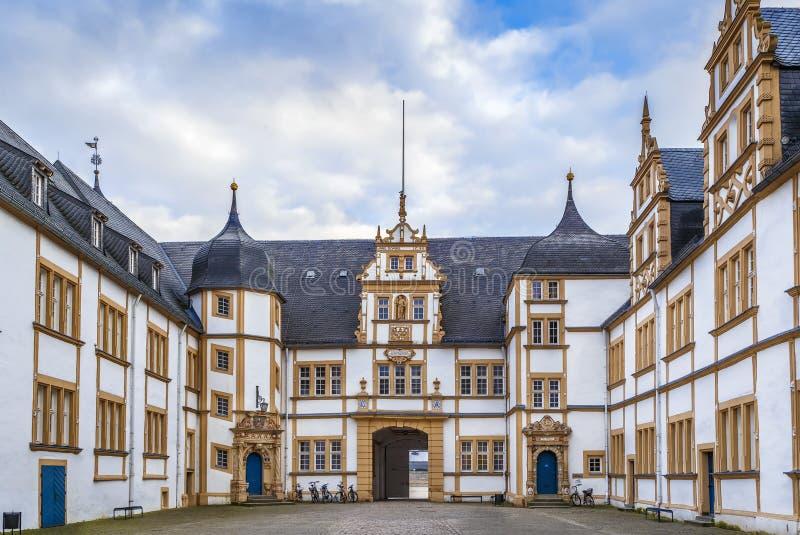 Neuhaus城堡在帕德博恩,德国 库存照片
