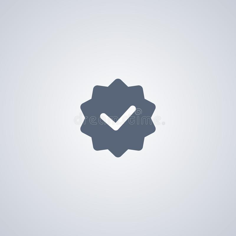 Neuheitstag, vector beste flache Ikone stock abbildung