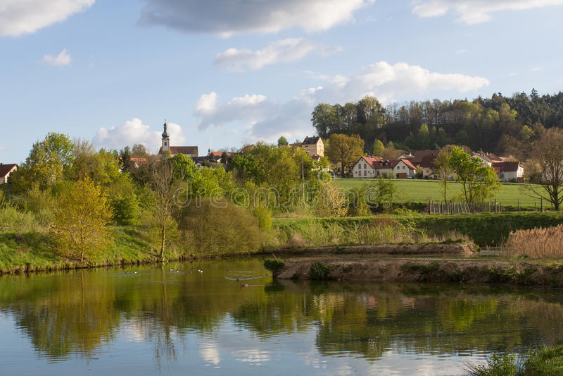 Neukirchen在巴伐利亚 免版税库存照片