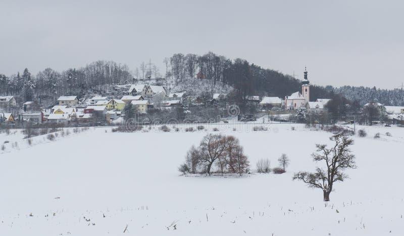 Neukirchen nell'inverno immagine stock libera da diritti