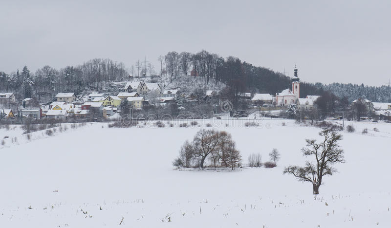 Neukirchen no inverno imagem de stock royalty free
