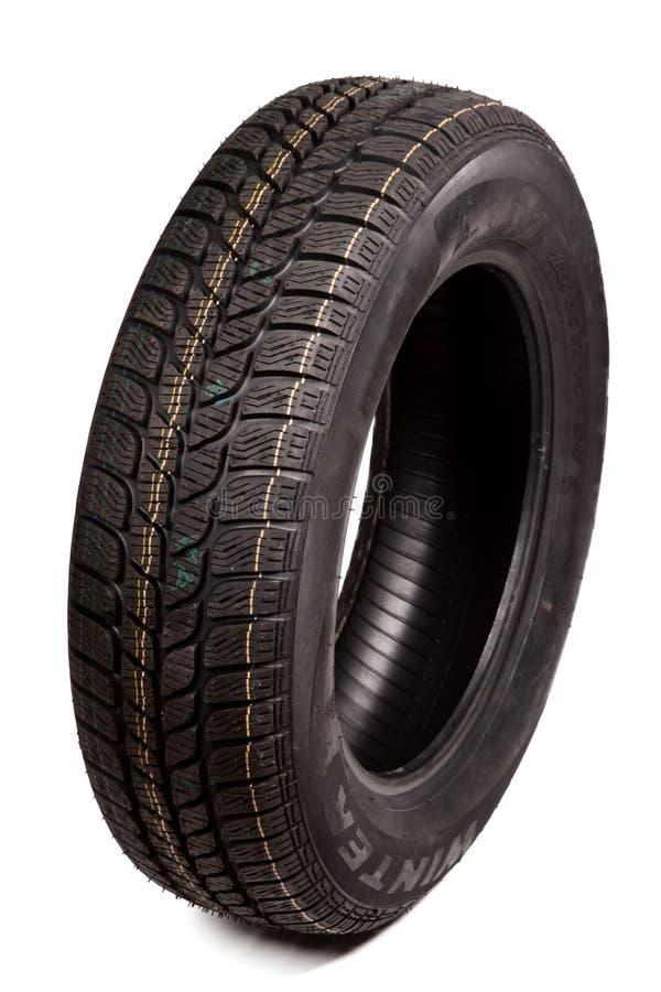 Neumático de coche aislado imagen de archivo libre de regalías