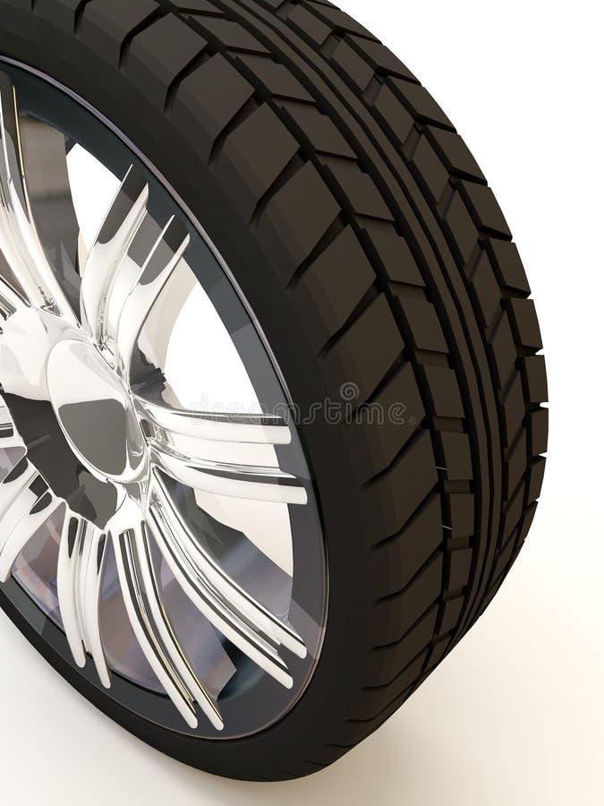 Neumático de una visión cenital ilustración del vector