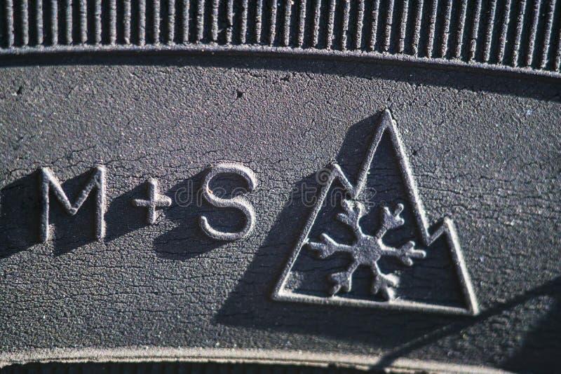 Neumático del invierno - símbolo fotos de archivo libres de regalías