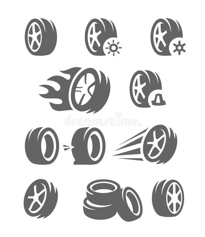 Neumático negro del vector libre illustration