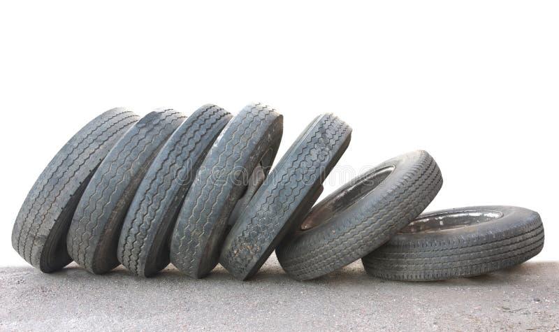 Neumáticos aislados fotografía de archivo