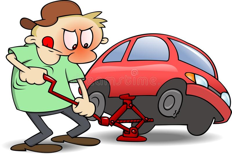 Neumáticos cambiantes stock de ilustración