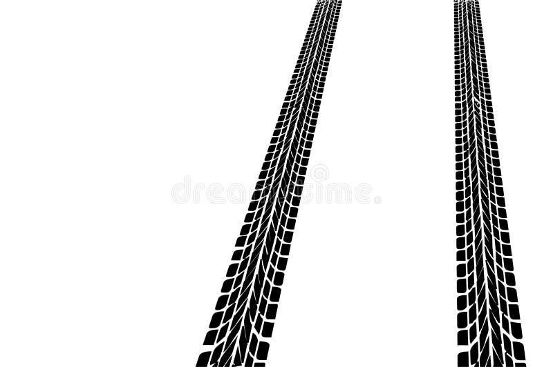 Neumáticos de coche stock de ilustración