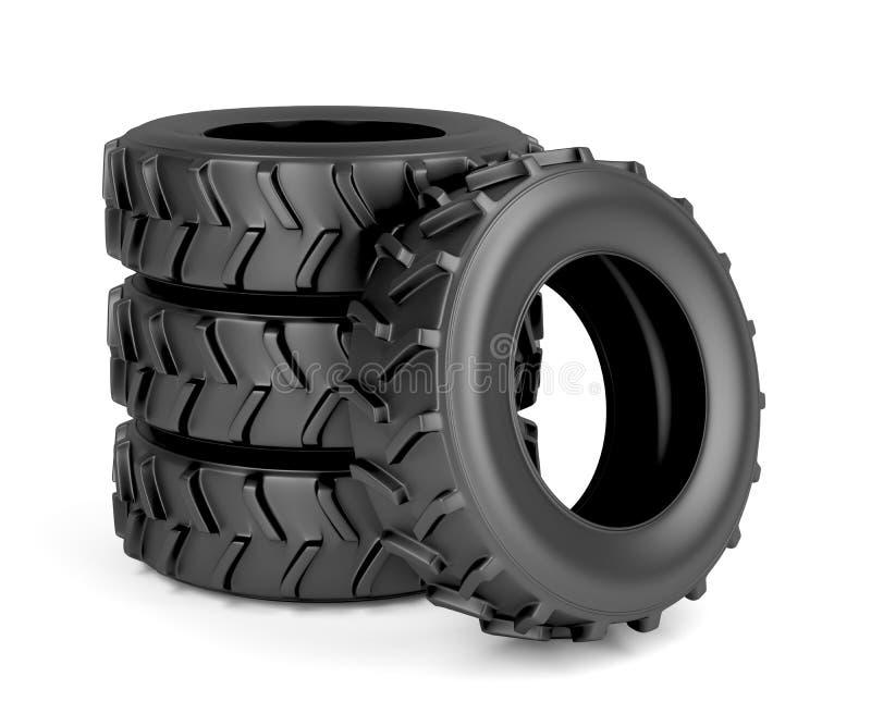 Neumáticos del tractor o de la maquinaria libre illustration