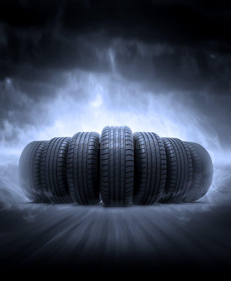 Neumáticos del vehículo ilustración del vector