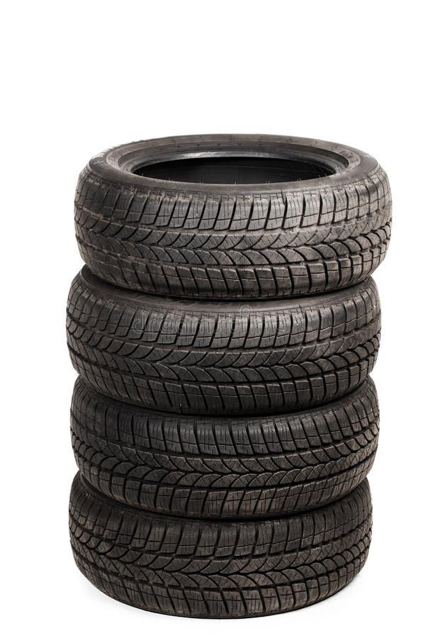 Neumáticos usados del invierno fotos de archivo libres de regalías