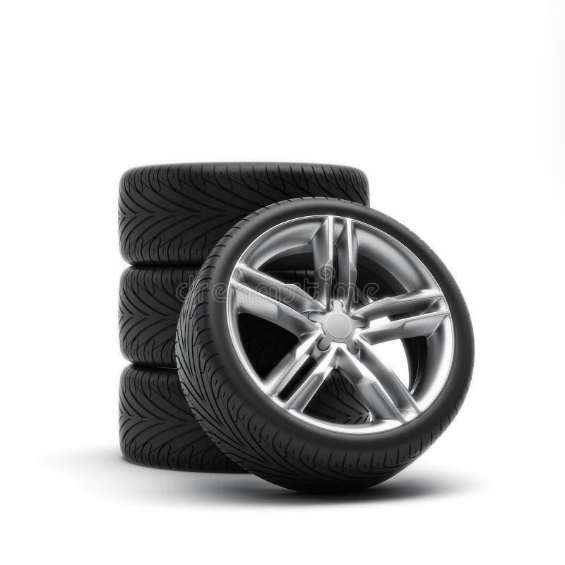 Neumáticos y bordes libre illustration