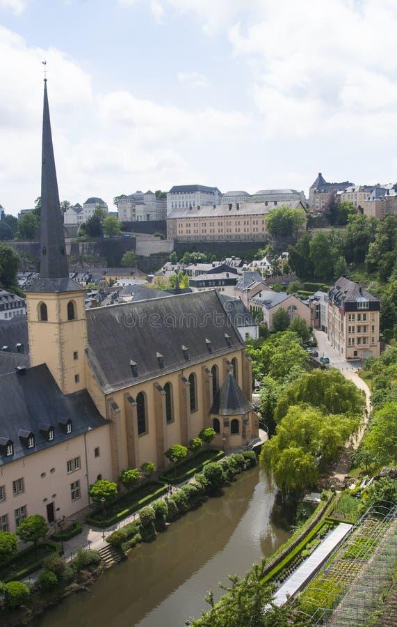 Neumunster修道院在卢森堡市 库存图片