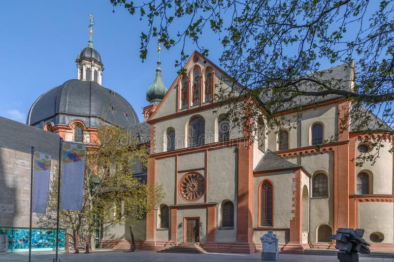 Neumunster教会,维尔茨堡,德国 库存图片