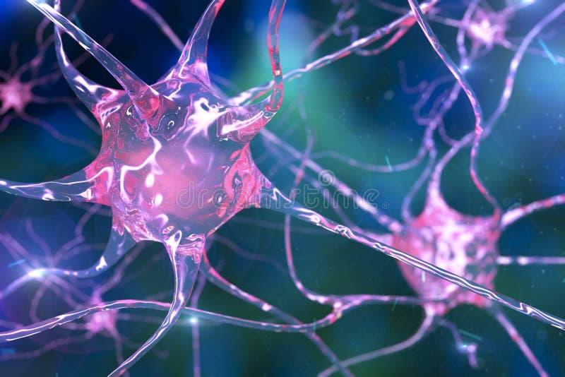 Neurônio, neurônio ilustração stock