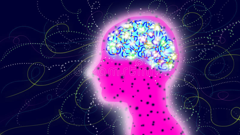 Neurônios ilustração royalty free