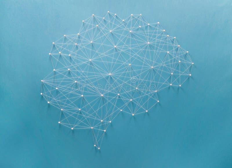 Neuraal netwerk stock foto