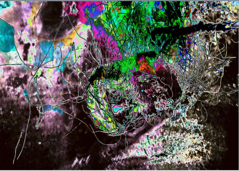Neural dreams. My thoughts as to neural synapses would be portrayed by art stock images