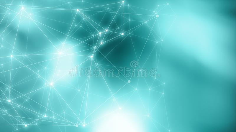 Neural network algorithm graphic backgrounds, random dots background with lines connections, circle elements, digital technology. Digital technology presentation royalty free stock photos