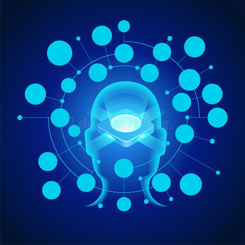Artificial intelligence concept stock illustration