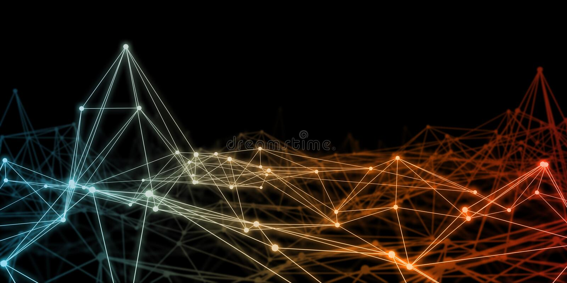 Neural sieci Plexus ilustracja wektor