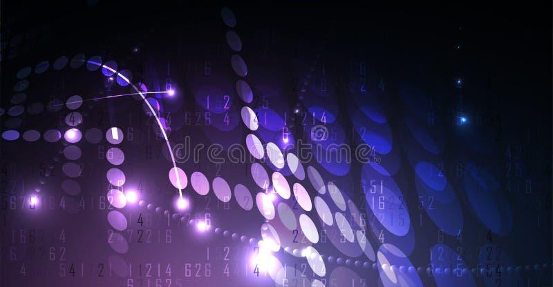 Neural sieci pojęcie Związane komórki z połączeniami Wysoki technol ilustracji